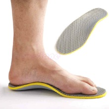 NEW US 7.5-12.5 Men Footful Arch Support Insoles Flat Shoes Pads With Cuttable(China (Mainland))