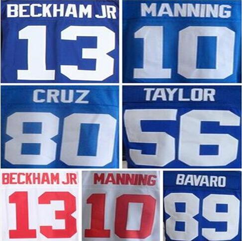 Best quality Men's #10 Eli Manning #13 Odell Beckham Jr jersey Victor Cruz Jason Pierre-Paul Lawrence Taylor Jerseys(China (Mainland))