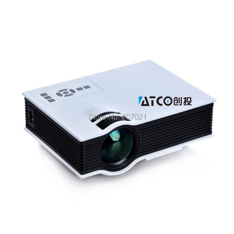Genuine uc40 mini projector hd 3d multimedia led mini for Miniature projector