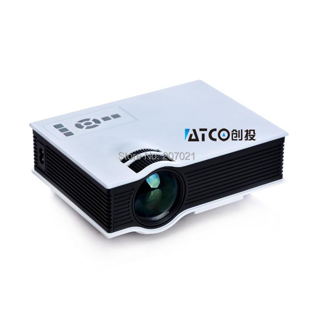 Genuine UC40 mini projector HD 3D Multimedia Led Mini projector HDMI Micro AV LCD Digital Video Pocket game beamer Projectr ATCO