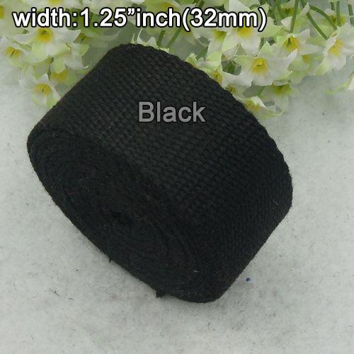 """Оптовая продажа 1.25 """" дюйма ширина 32 мм высокое качество толстый хлопок лямки ..."""