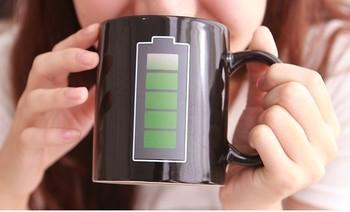 Battery Thermokruzhkus Free shipping Animated Coffee Mugs / Morph cup/ Battery Color Changing Mug