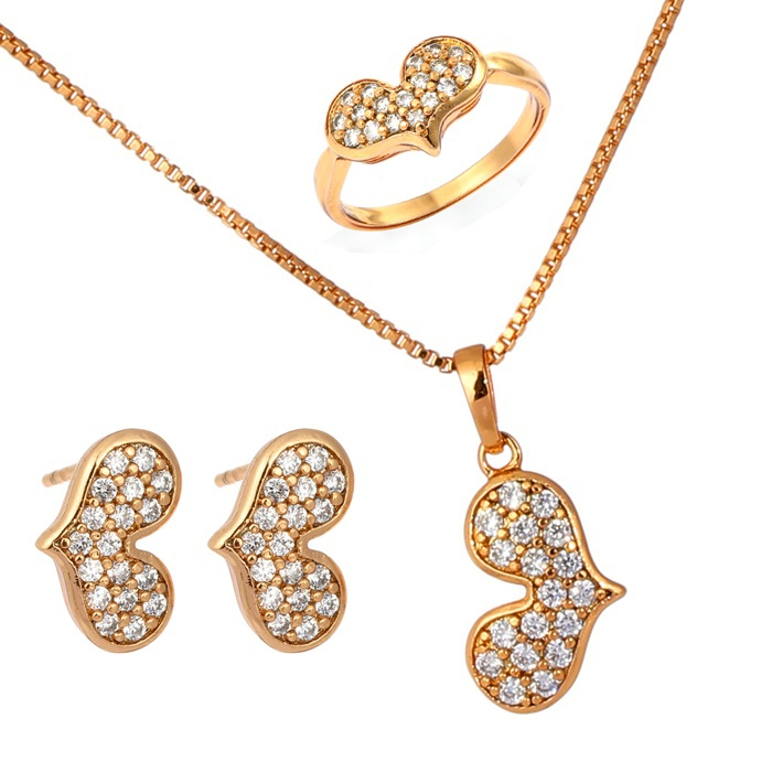 child baby jewelry sets 18k gold plated