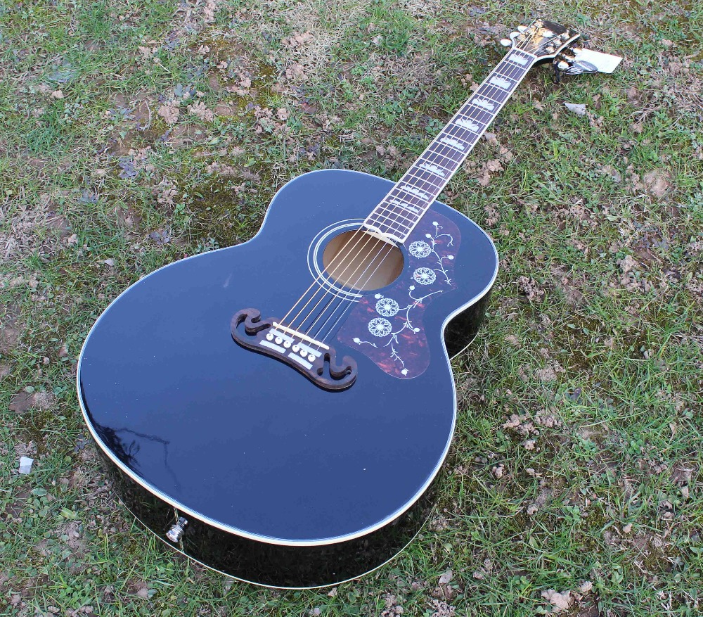 2016 new arrival J200 acoustic guitar, 43 inch jumbo acoustic guitar acoustic electric guitar(China (Mainland))