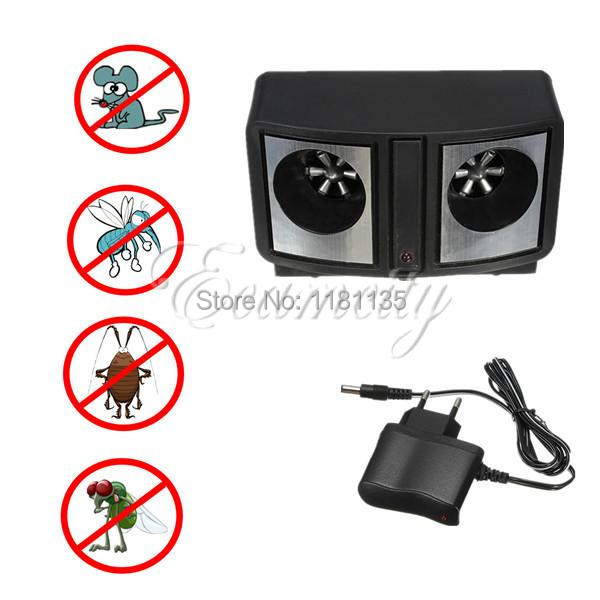 Electronic Ultrasonic Pest Repeller Dual Sonic Mice Rat Rodent Control Mosquito cockroach Bug EU Plug Low power(China (Mainland))