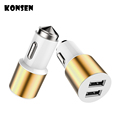 KONSMART New 3 1A Fast Charging Life Safety Hammer Dual USB Car Charger For iPhone 6s