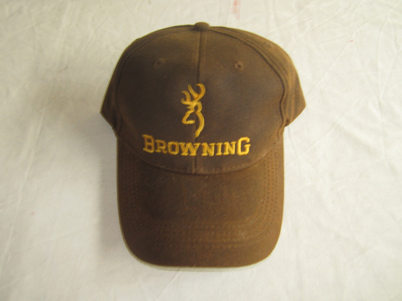 1pc brown 100% cotton baseball cap Hunting cap with yellow color browning embroidery, Fishing hiking bionic cap CR-C112(China (Mainland))