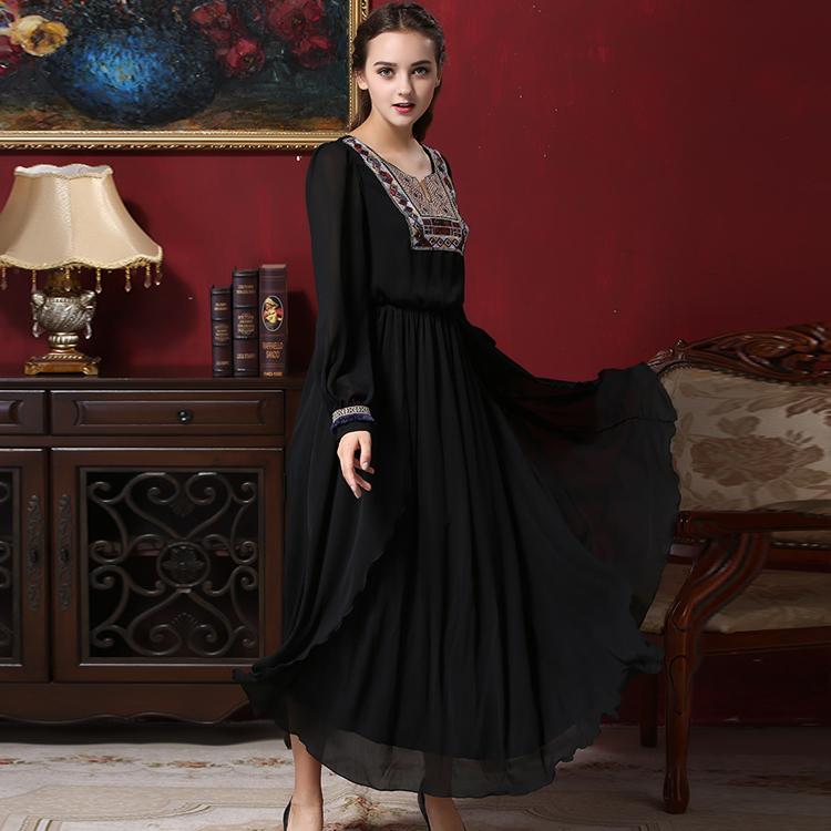 vestido renda boho clothing vetement femme robe vintage black vestido largo kleider sommer plus. Black Bedroom Furniture Sets. Home Design Ideas
