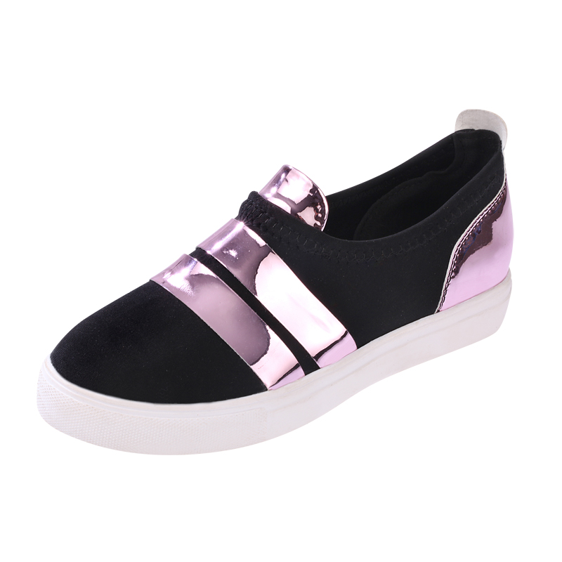 HOT SLAE patchwork women flats striped slip-on womens loafers spring round toe comfort shoes woman casual zapatos mujer<br><br>Aliexpress