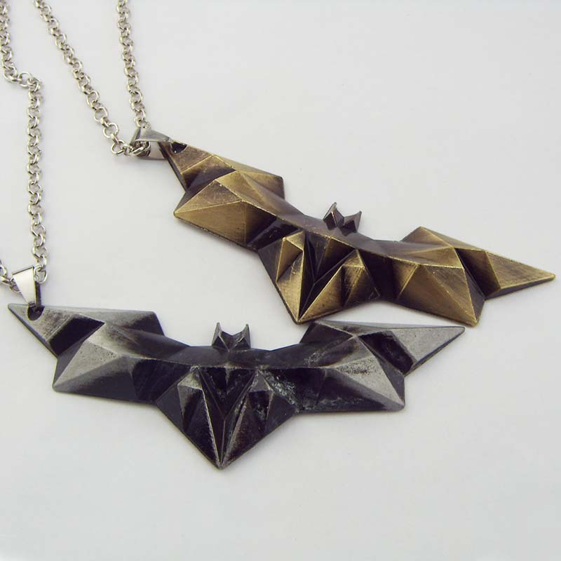 New Design DC Comics Batman necklace New style Metal Superhero Movie Jewelry pendant necklace for boy girl Collection KN-252(China (Mainland))