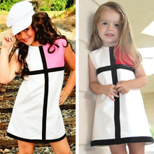 New ShiJ Baby Girl Dress Summer Brand Princess Dress Girls Clothes Striped Plaid Pattern Designer Kids Dresses Children Clothing