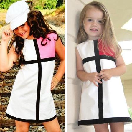 Baby Girl Dress Summer 2016 Brand Princess Dress For Girls Clothes Striped Plaid Pattern Designer Kids Dresses Children Clothing