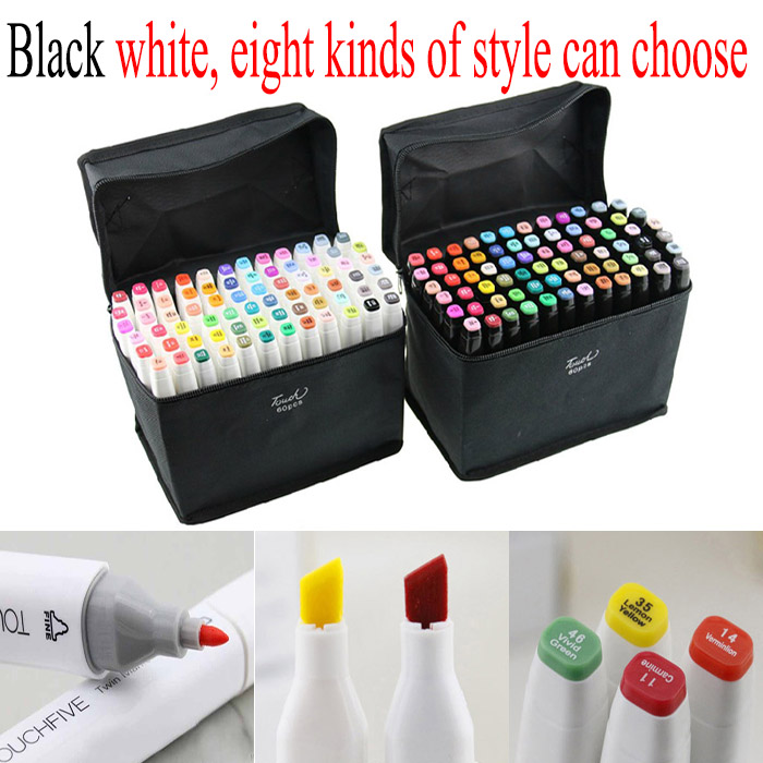 Mark pen 60 color Alcohol Denat hot bingo Marker pen Water soluble pen cartoon graffiti art marker copic drawing watercol(China (Mainland))