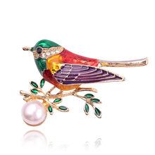 Indah Mata Hitam Merah Enamel Kumbang Ladybug Bentuk Bros Pin untuk Wanita Pakaian Lencana Vintage Brocade Bijoux Pin Logam(China)