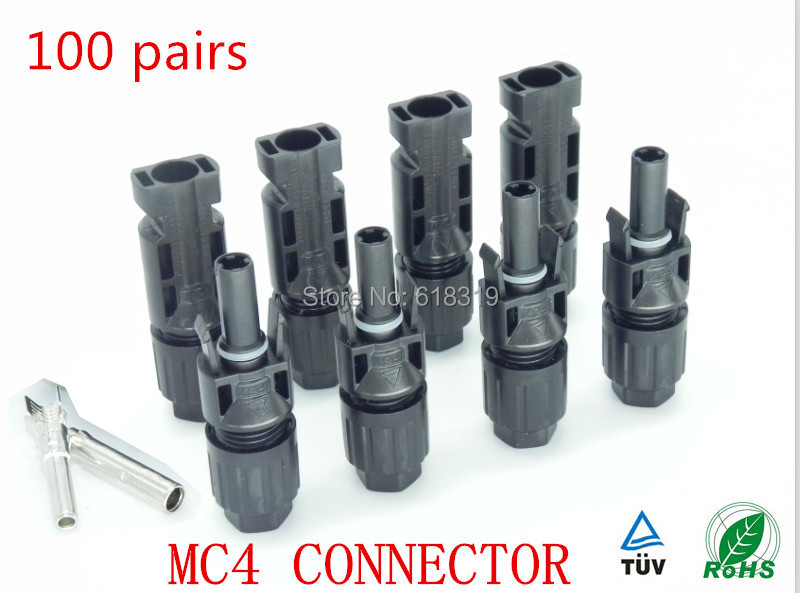 25 Years Quality Warranty 100 Pairs TUV IP67 Pv MC4 Connector Solar Cell Used For Solar Cable 2.5mm2 4mm2 6mm2 Ship By Fedex DHL(China (Mainland))