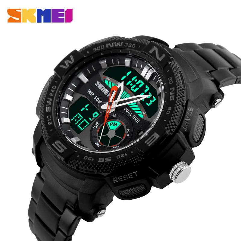 HOT Sell SKMEI Men Watches Brand electronic quartz watch Men Military Wrist Watches Full Steel Men Sport Watch Relogio Masculino(China (Mainland))