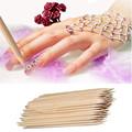 90Pcs Nail Art Orange Wood Stick Cuticle Pusher Remover Pedicure Manicure Tool 27GY