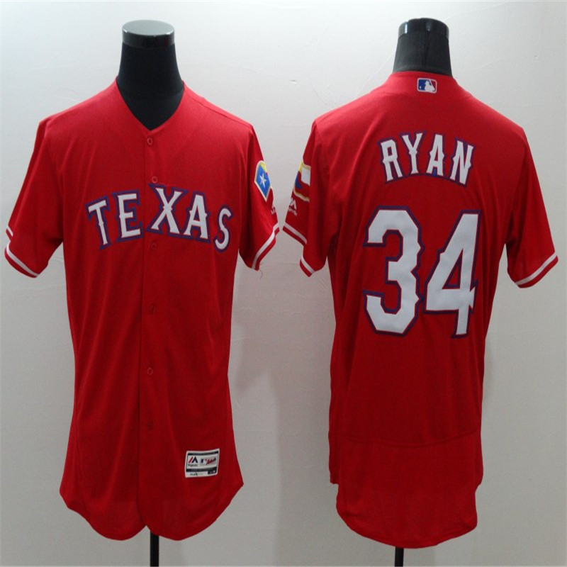 Mens Texas Rangers#34 Nolan Ryan Blank Red Gray White Home Throwback FLEXBASE Stitched Baseball Jerseys(China (Mainland))
