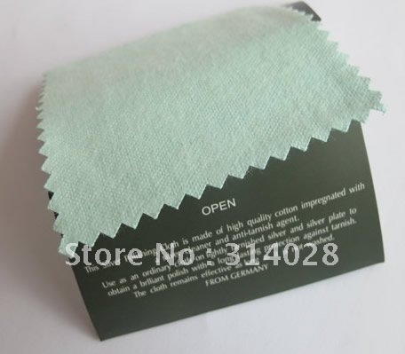 Flannelette Silver Cleaning Cloth Silver Polishing Cloth 10x6cm 20PCS/lot ,Free Shipping