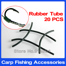 20pcs 2mm*5cm Premium Carp Fishing Silicone Rubber Tube Sleeve For Hair Rig Making Carping Accessories