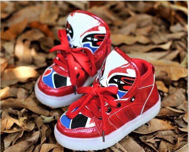 2016 European funny design LED lighted baby casual shoes high quality hot sales baby boots kids girls boys shoes(China (Mainland))