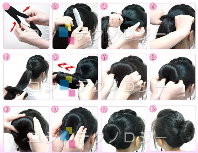 как завязать волосы твистером