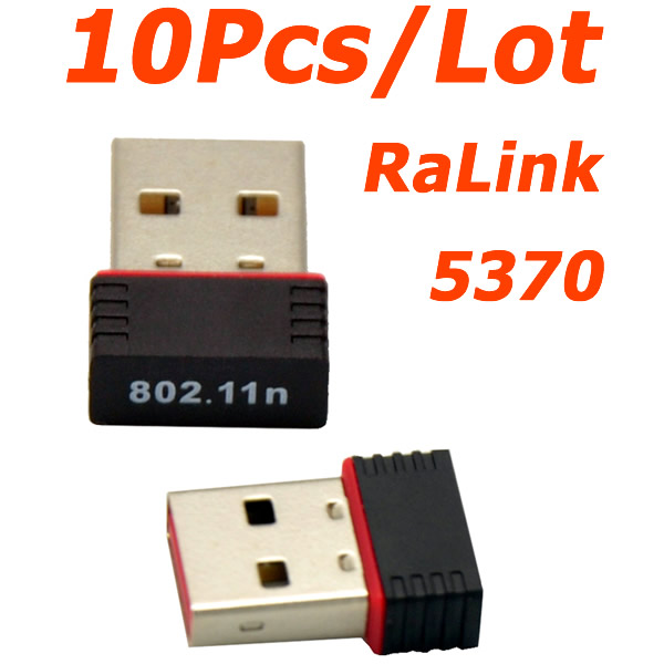 WHOLESALE 10Pcs/Lot Mini Ralink 5370 150Mbps Wireless WiFi USB Adapter LAN Network Card Adapter for SKYBOX / Openbox /STB(China (Mainland))