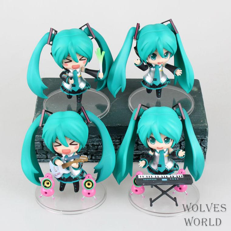 4 Pcs/Set Japan Anime Hatsune Miku Figure PVC Action Figure Guitar Music Ver. Model Collectible Brinquedos Kids Toys Juguetes(China (Mainland))