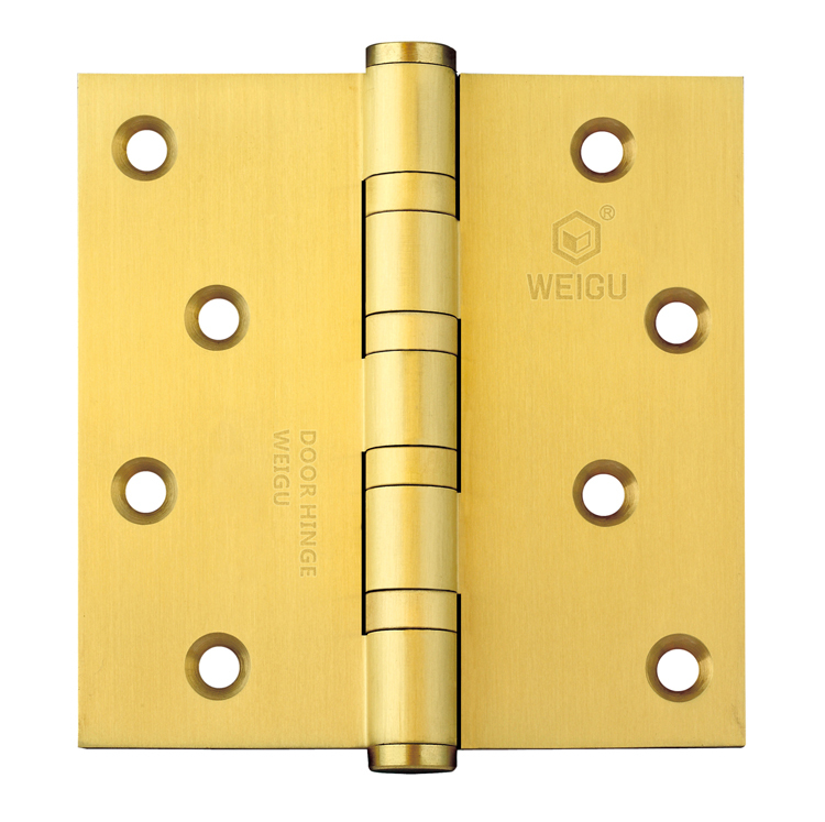 1 piece Satin Brass  Finished Door Hinge  Brass Material (4inch*4 inch *3.0 mm)