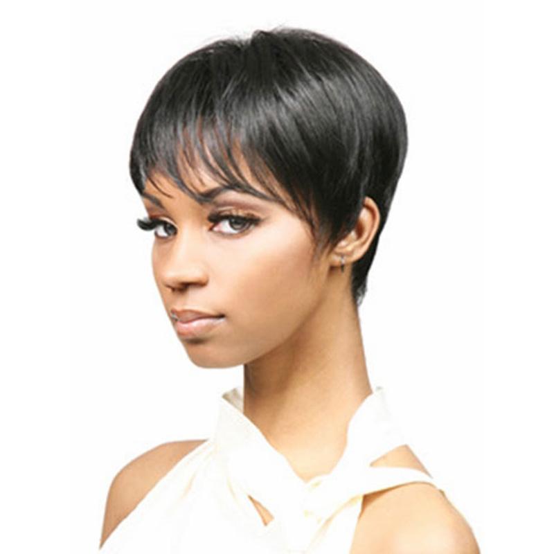 Medusa hair products: Afro boy cut Short pixie wigs for black women ...