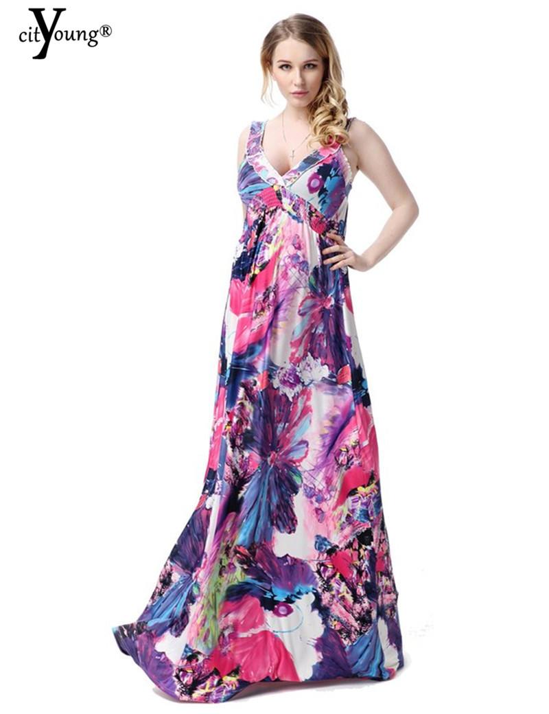 buy sexy women summer dress 2016 vestidos v neck bohemian beach long maxi robe femme plus size. Black Bedroom Furniture Sets. Home Design Ideas