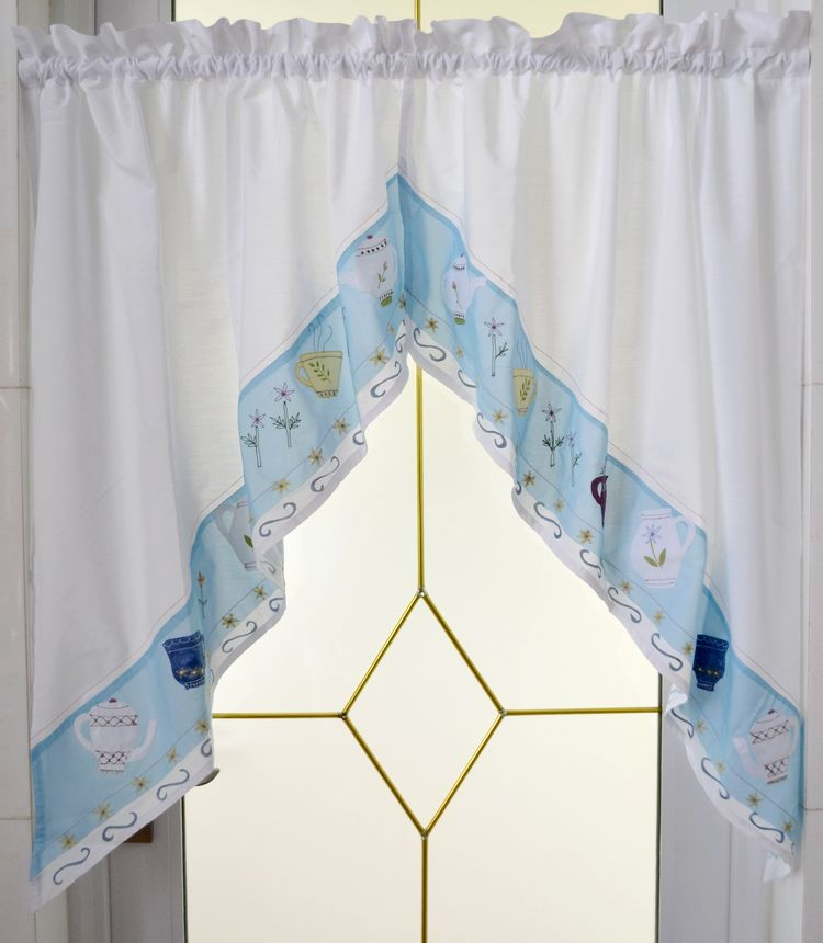 Kitchen Curtains At Big Lots: Window Treatments Embroidery Triangles Curtain Head