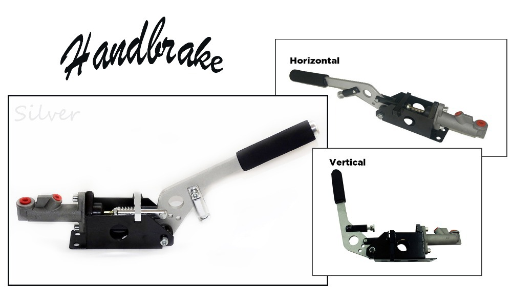 Universal Car Auto Hydraulic Handbrake Vertical & Horizontal 25cm Rally Racing E-Brake Lever Device Master Cylinder Silver - Fast_Furious2015 store
