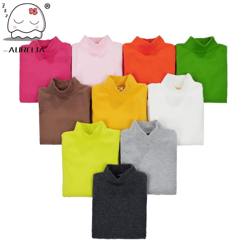 16 Colors Girls <font><b>Long</b></font> <font><b>Sleeve</b></font> Turtleneck <font><b>Basic</b></font> Cotton <font><b>T</b></font> <font><b>shirts</b></font> Kids Clothing Girls Tops Children Clothes <font><b>T</b></font>-<font><b>shirt</b></font>