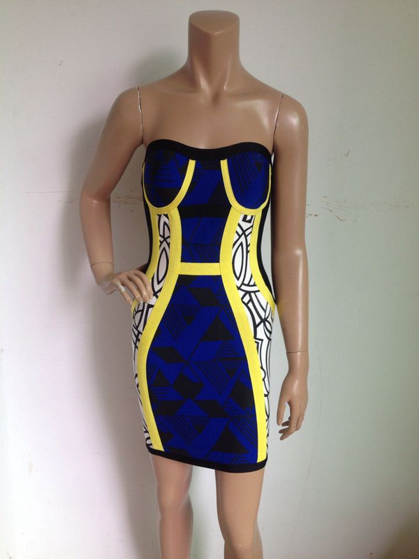 newst strapless bandage dress celebrity prom party - fashion Trading Co.,Ltd. store