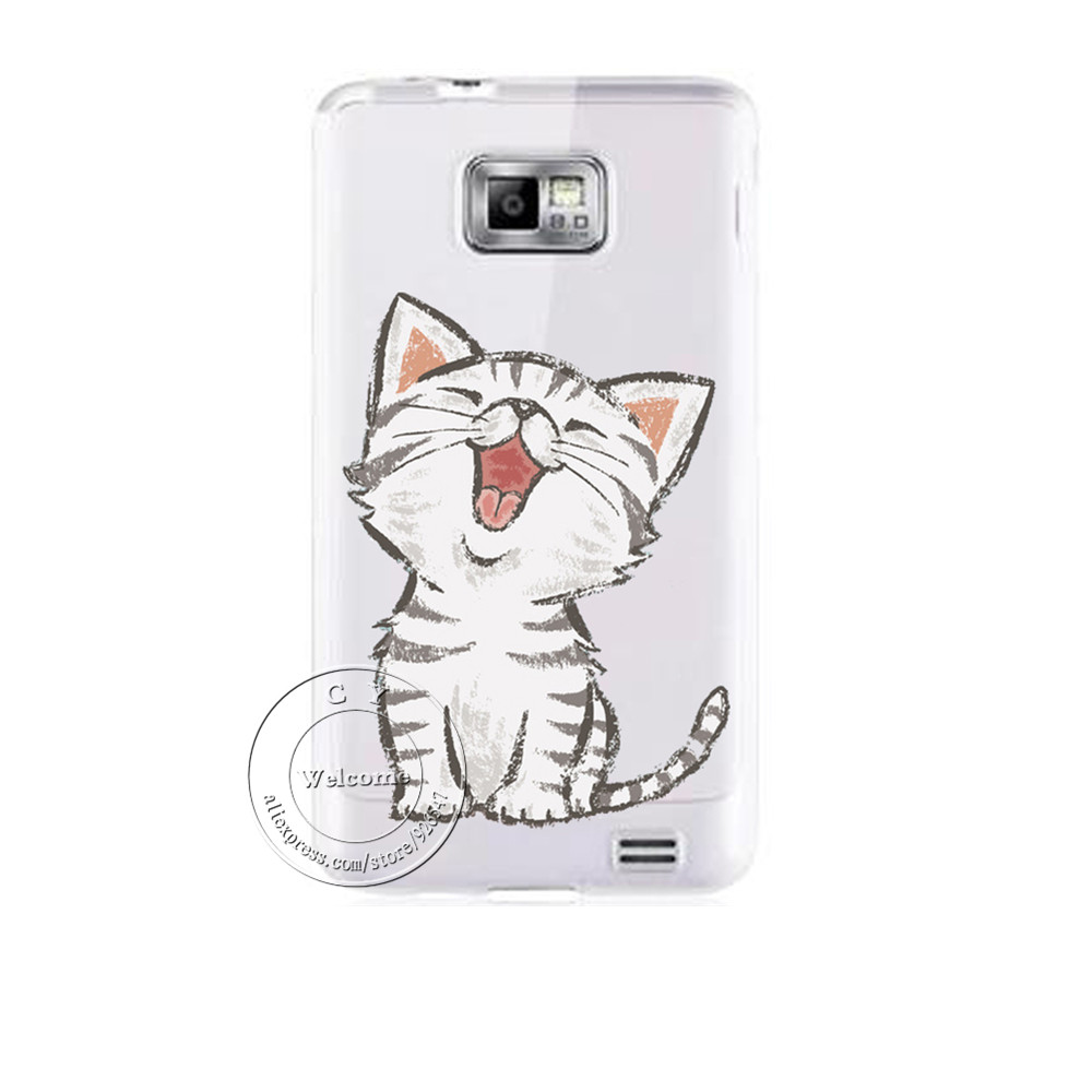 Super Cute Cat Hard Plastic Case Cover For Samsung Galaxy S3 S4 S5 Mini S6 S7 Edge Plus Note 2 3 4 5 A3 A5 A7 A8 J1 J5 J7(China (Mainland))