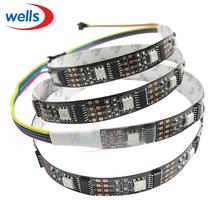 1M 32 Pixels WS2801 5050 RGB White/Black PCB Dream Color LED Strip Addressable # 5V(China (Mainland))