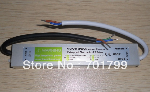 12V/30W LED waterproof switch mode power supply,AC90-250V input