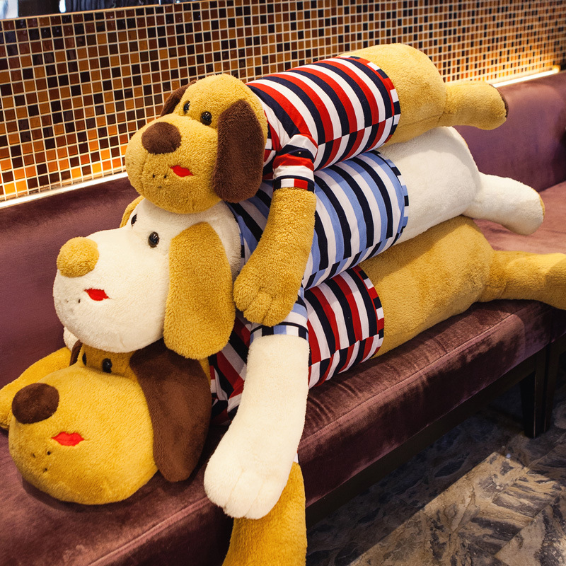 Large Size 90cm Sleep Stuffed Plush Animals Toys With Clothes Kawaii Doll Birthday Gift For Kid D88(China (Mainland))