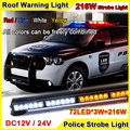 216W Super Bright Car Roof Led Strobe Lights Bar Police Emergency Warning Fireman Flash 12V 37