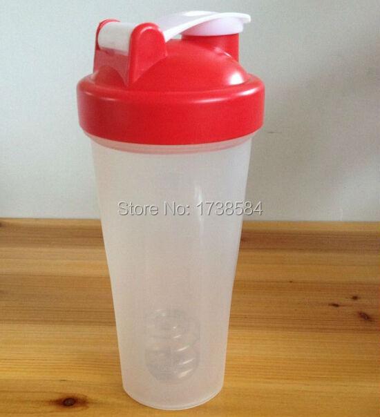 Shake de 600 ml multicolor inteligente de ginástica, Bpa plástico shaker aptidão aço whisk bola, Cup(China (Mainland))
