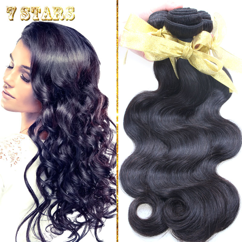 Free Shipping 3pcs/lot Body Wave Unprocessed Peruvian Virgin Human Hair Extensions 8-30inches  Natural Color Queen Hair Weft