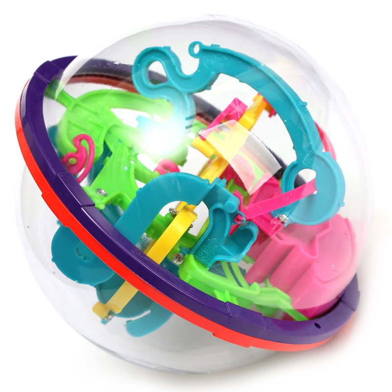 New 3D Puzzle Ball Intellect Ball For Kids Toys Amazing Balance Learning & Educational IQ Trainer Game For Children(China (Mainland))