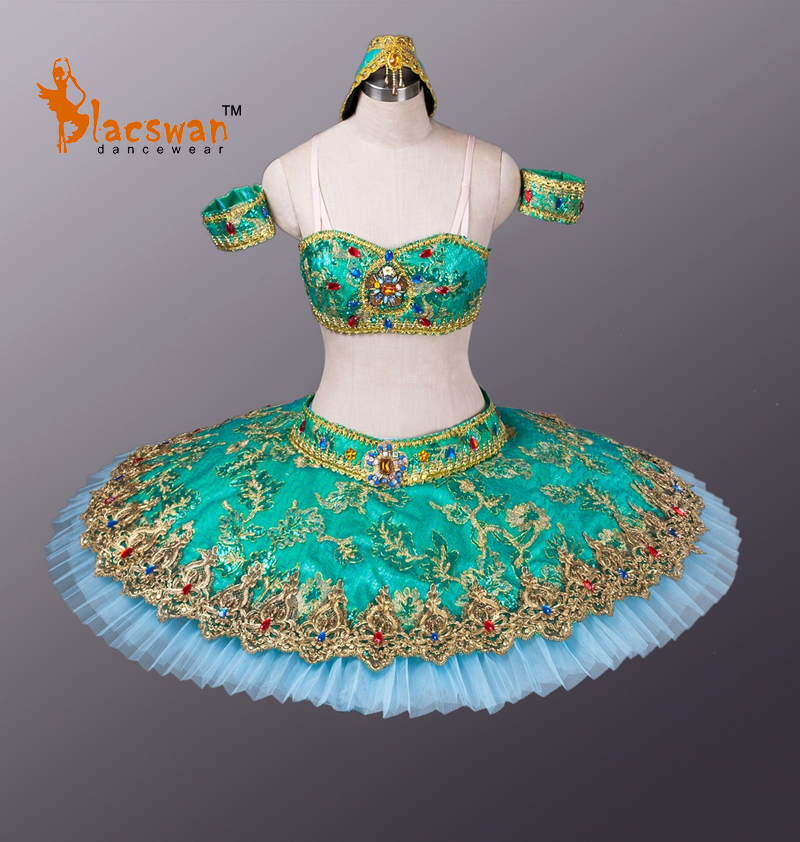 Classic Ballet Tutu BT666 La Bayadere Green Adult Professional Classical Performance Kids - Guangzhou Blacswan Dance & Activewear Co., Ltd. store