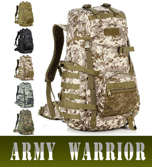 60L Large capacity military tactical travel backpack outdoor mountaineering bag fashion camouflage  waterproof hiking backpack