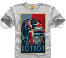 Star Wars DIY Pure cotton Round collar Men's short sleeve T-shirt 010 darth_vader r2d2 shepard