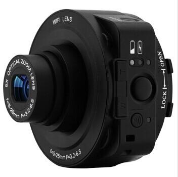 Mini Selfie Lens-style Wifi Digital Camera Camcorder Full HD 1080P 30fps 20MP 4X digital zoom 5X Optical Zoom Camera(China (Mainland))