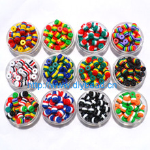 Buy 50 pcs DIY Bracelet Accessory Children Handcraft Department 12 Color 9*8MM Cylindrical Resin Stripe Flag Beads jewelry Findings for $1.20 in AliExpress store