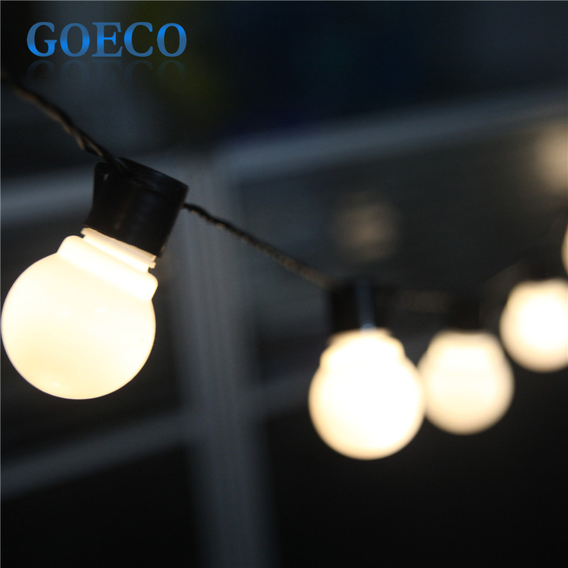 5M 20LED Clear G45 Globe Connectable Plug in Festoon Party String Lights Wedding/Chirstmas Decor ...