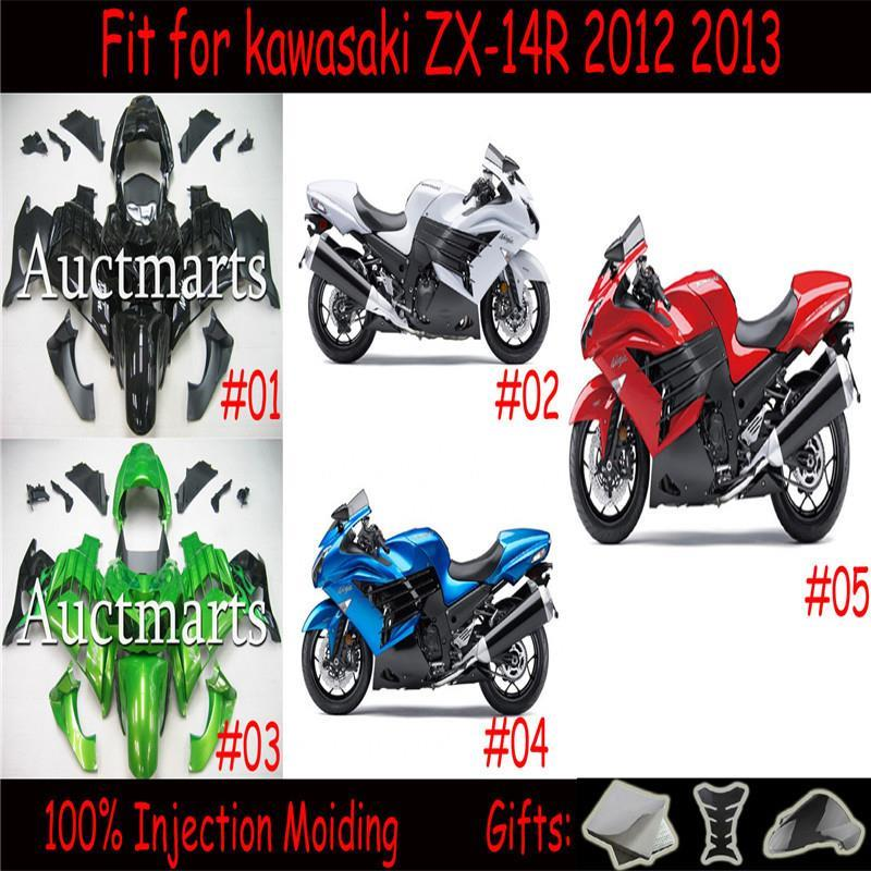 For kawasaki ZX-14R 2012 2013 Injection  ABS Plastic motorcycle Fairing Kit Bodywork ZX14R ZZR1400 12-13 Free Shipping CB001